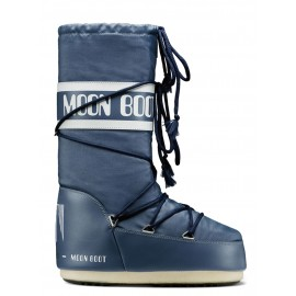 BOTTES APRES-SKI MOON BOOT THE ORIGINAL NYLON BLEU JEANS