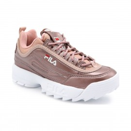 CHAUSSURES SNEAKER FEMME FILA DISRUPTOR M LOW WMN ROSE ASH
