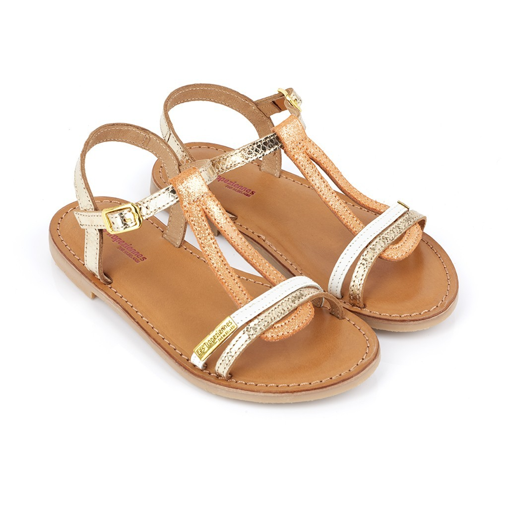 Sandales Cuir Les Fille Multi Or Spartiates Tropeziennes Bada Chaussures PkuOXZTiw