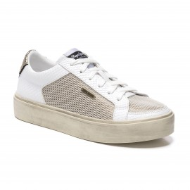 CHAUSSURES SNEAKER TENNIS FEMME PEPE JEANS CHELSEA MESH BLANC