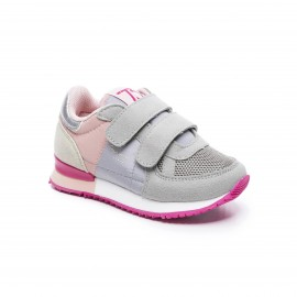 CHAUSSURES SNEAKER RUNNING FILLE PEPE JEANS SYDNEY BSC KIDS GRIS/ROSE