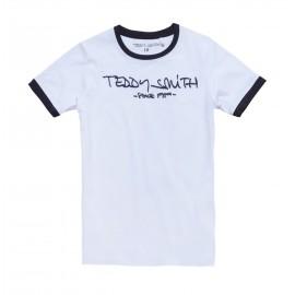 TEE-SHIRT MC ENFANT GARCON TEDDY SMITH TICLASS 3 BLANC/NAYV