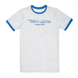 TEE-SHIRT MC ENFANT GARCON TEDDY SMITH TICLASS 3 BLANC/BLEU