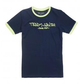 TEE-SHIRT MC ENFANT GARCON TEDDY SMITH TICLASS 3 MARINE/JAUNE
