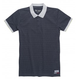 POLO MC ENFANT GARCON TEDDY SMITH OVER TOTAL NAVY IMPRIME