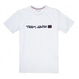 TEE-SHIRT MC HOMME TEDDY SMITH CLAP BLANC