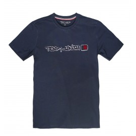 TEE-SHIRT MC HOMME TEDDY SMITH CLAP TOTAL NAVY