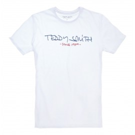 TEE-SHIRT MC HOMME TEDDY SMITH TICLASS BASIC BLANC