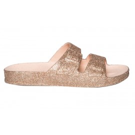 CHAUSSURES SANDALES FEMME CACATOÈS TRANCOSO ROSE NUDE PAILLETTES