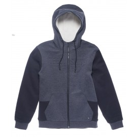 SWEAT CAPUCHE ZIPPE HOMME TEDDY SMITH FROST BLEU MARINE CHINE