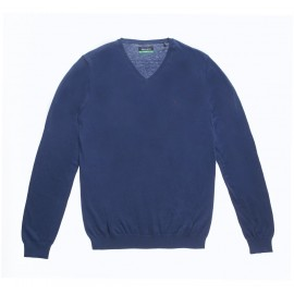 PULL HOMME TEDDY SMITH PIKO RECYCLED BLEU MARINE