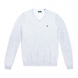 PULL HOMME TEDDY SMITH PIKO RECYCLED BLANC MELANGE