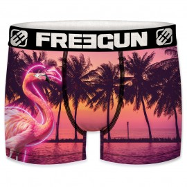 BOXER UNDERWEAR HOMME FREEGUN FLAMINGO MULTICOLORE