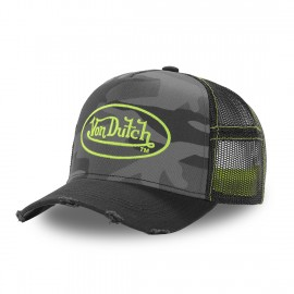 CASQUETTE ADULTE VON DUTCH TRUCKER CAMOUFLAGE AVEC FILET
