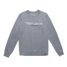 SWEAT COL ROND GARCON TEDDY SMITH MICKE GRIS CHINE